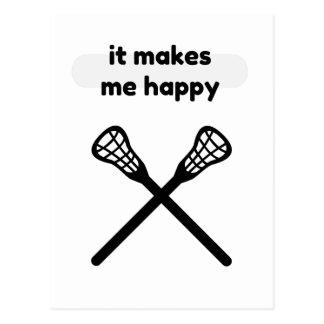 Cartão Postal Faz faz-me o Feliz-Lacrosse