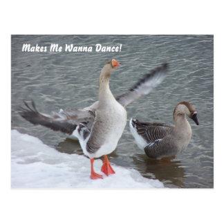 Cartão Postal Faz-me querer dançar!