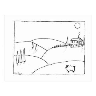 Cartão Postal Fazenda da Lua cheia