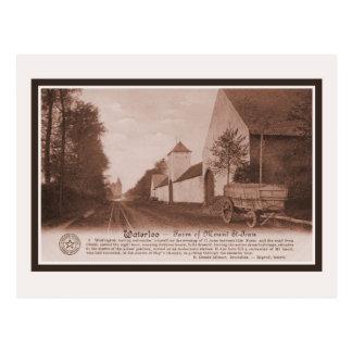 Cartão Postal Fazenda de Waterloo do vintage da montagem