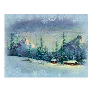 Cartão Postal FAZENDA do INVERNO por SHARON SHARPE