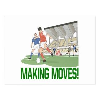 Cartão Postal Fazendo movimentos