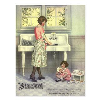 Cartão Postal Fazendo pratos