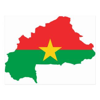 Cartão Postal FB do mapa da bandeira de Burkina Faso