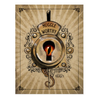 Cartão Postal Fechamento digno de Muggle com o animal fantástico