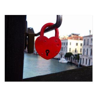 Cartão Postal fechamento do amor em Veneza