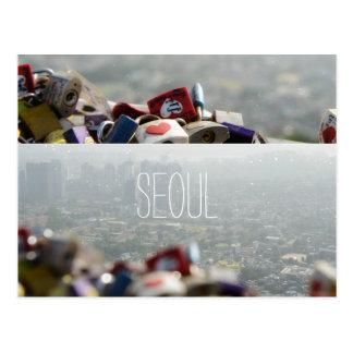 Cartão Postal Fechamentos do amor de Seoul
