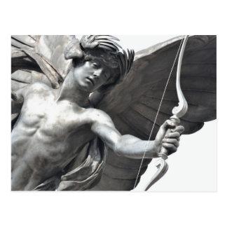 Cartão Postal Feche acima da estátua do Eros no circo de