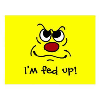 Cartão Postal Fed acima do smiley face Grumpey