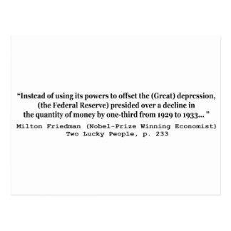 Cartão Postal Federal Reserve & a Grande Depressão