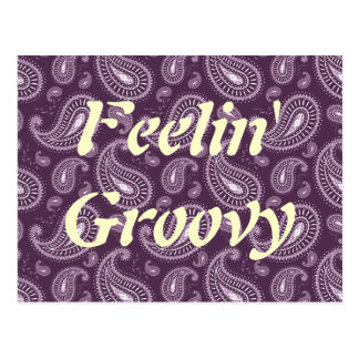 Cartão Postal Feelin Paisley roxo Groovy