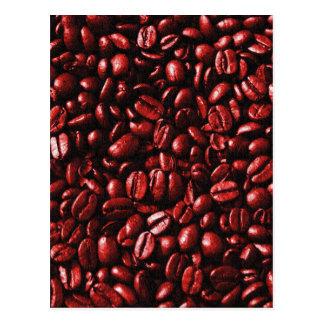 Cartão Postal Feijões de café encarnados