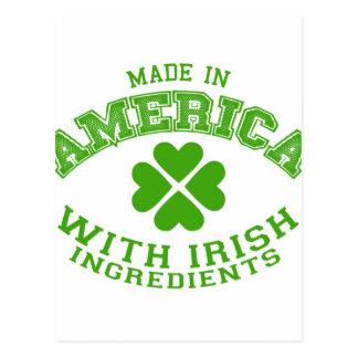 Cartão Postal Feito em América com ingredientes irlandeses