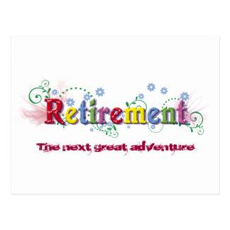 Cartão Postal Felicidade da aposentadoria