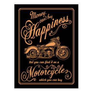 Cartão Postal Felicidade - motocicleta
