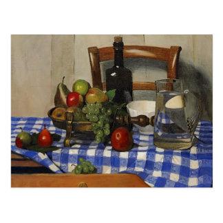 Cartão Postal Felix Vallotton - ainda vida com Tablecloth azul