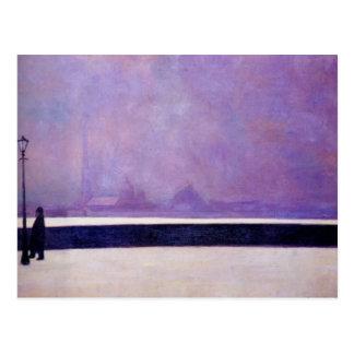 Cartão Postal Felix Vallotton - Neva, névoa clara