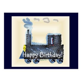 Cartão Postal Feliz aniversario Choo Choo