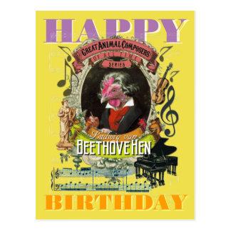 Cartão Postal Feliz aniversario de Beethovehen Beethoven