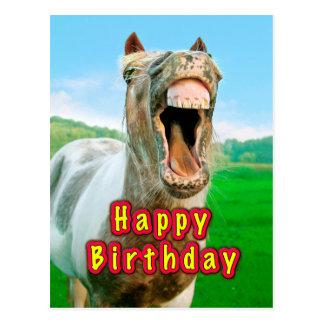 Cartão Postal Feliz aniversario do cavalo feliz