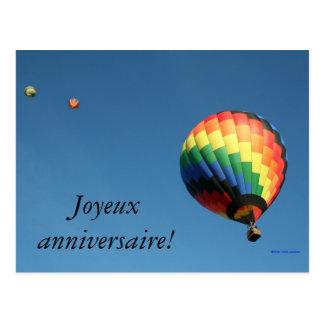 Cartão Postal Feliz aniversario internacional!  Personalize a