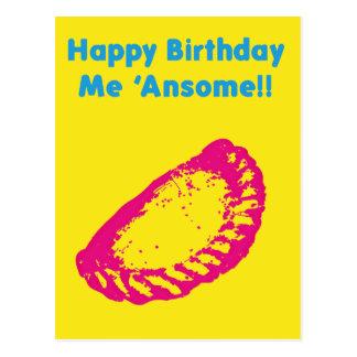 Cartão Postal Feliz aniversario mim Ansome