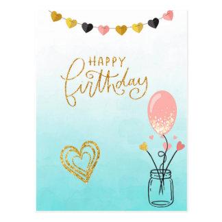 Cartão Postal Feliz aniversario para ela