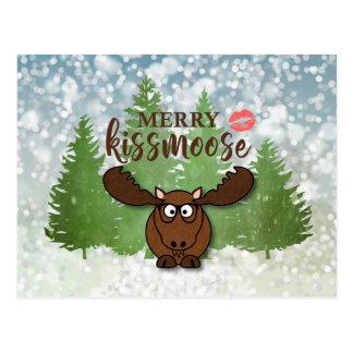 Cartão Postal Feliz engraçada KISSMOOSE, cumprimento
