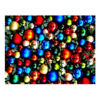 Cartão Postal Feliz Natal, bolas do Natal