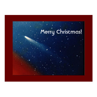 Cartão Postal Feliz Natal! Cometa Kohoutek