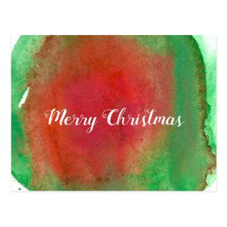 Cartão Postal Feliz Natal, cor de água