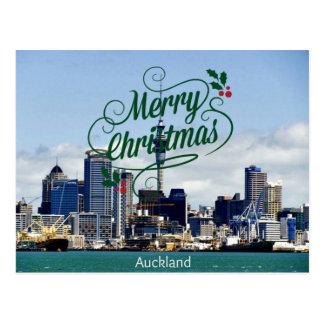 Cartão Postal Feliz Natal de Auckland