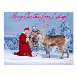 Cartão Postal Feliz Natal de Lapland