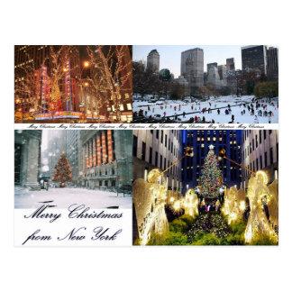 Cartão Postal Feliz Natal de New York