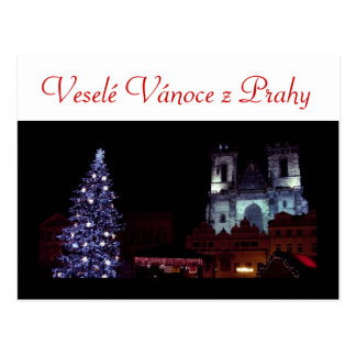 Cartão Postal Feliz Natal de Praga