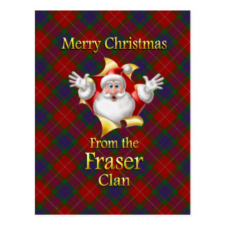 Cartão Postal Feliz Natal do clã de Fraser