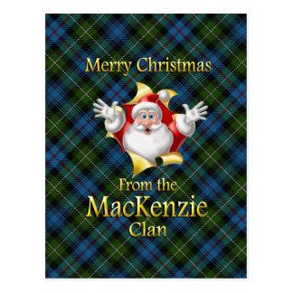 Cartão Postal Feliz Natal do clã de MacKenzie