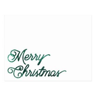 Cartão Postal Feliz Natal do heim&lore verde