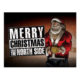 Cartão Postal Feliz Natal do lado norte