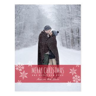 Cartão Postal FELIZ NATAL dos flocos de neve