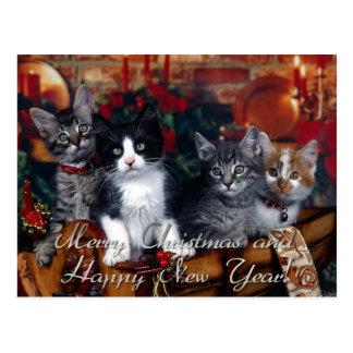 Cartão Postal Feliz Natal e feliz ano novo