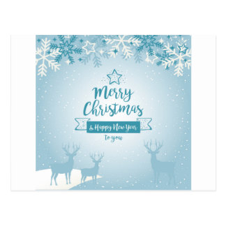 Cartão Postal Feliz Natal & original elegante do feliz ano novo