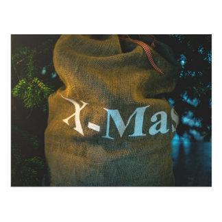 Cartão Postal Feliz Natal, X-MAS