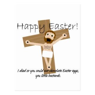 Cartão Postal Felz pascoa de Jesus irritado