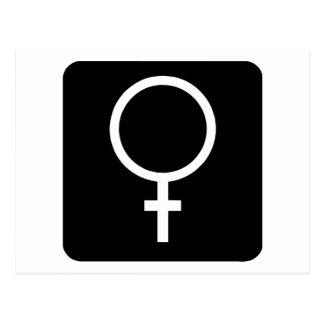 Cartão Postal Fêmea