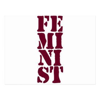 Cartão Postal Feminista!