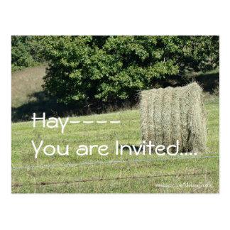 Cartão Postal Feno-você é convidado….personalize