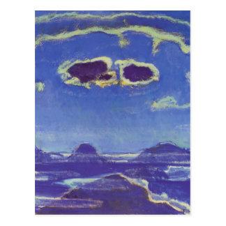 Cartão Postal Ferdinand Hodler-Eiger, Monch, Jungfrau no luar