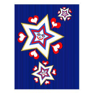 Cartão Postal Feriado feliz da estrela