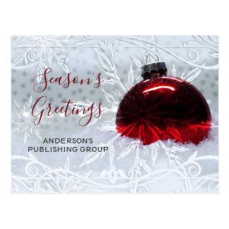 Cartão Postal Feriado vermelho do negócio do ornamento da cena